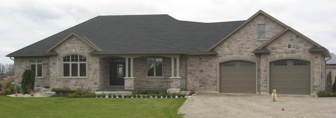 Wind Ridge Design Build Ltd - Burford - New House - Front Yard